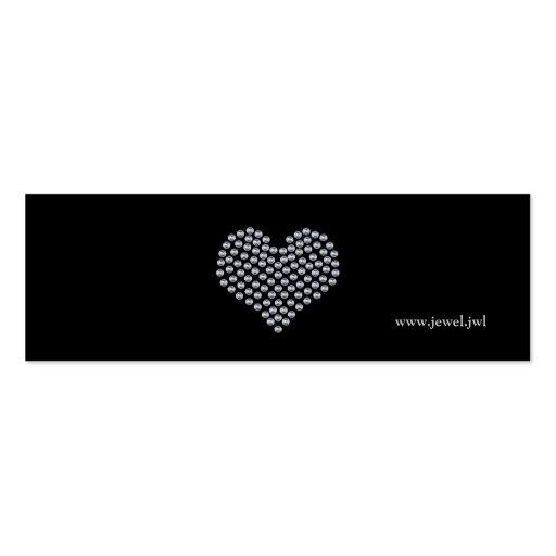 Modèle argenté de carte de visite de coeur