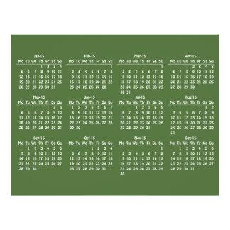 modèle de 2015 calendriers prospectus personnalisés