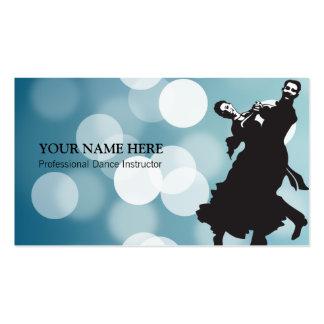 Modèle de carte de visite d instructeur de danse