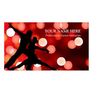 Modèle de carte de visite d'instructeur de danse