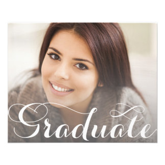 Modèle de carte postale d'obtention du diplôme prospectus en couleur