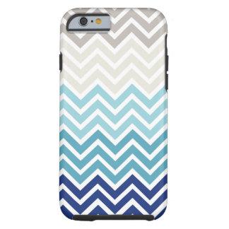 Modèle de couleurs nautique de Chevron Coque iPhone 6 Tough