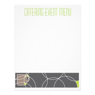 Modèle de menu de café ou de restauration tract personnalisé