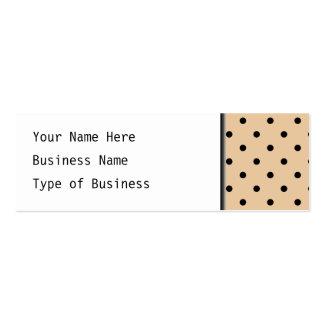 Modèle de point bronzage et noir de polka carte de visite petit format