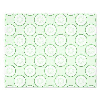 Modèle de point de polka de concombre prospectus 11,4 cm x 14,2 cm