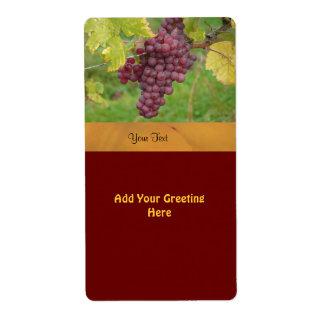 Modèle d'étiquette de vin étiquettes d'expédition