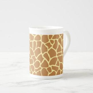 Modèle d'impression de girafe mugs porcelaine anglaise