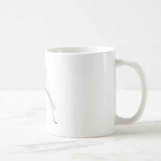 Modèle élégant de silhouette de jeunes mariés tasse à café