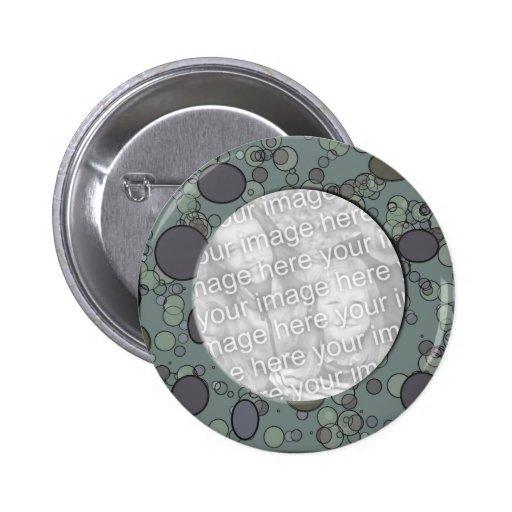 modèle gris de cadre de cercle badges