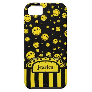 Modèle nommé souriant de PolkaDot Coque Case-Mate iPhone 5