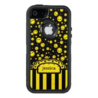 Modèle nommé souriant de PolkaDot Coque OtterBox iPhone 5, 5s Et SE