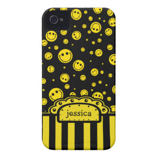 Modèle nommé souriant de PolkaDot Coques iPhone 4