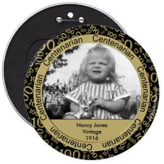 Modèle photo : 100th Or de Centenarian Macaron Rond 15,2 Cm