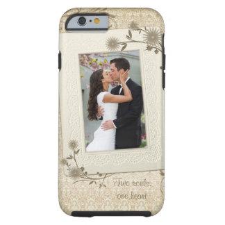 Modèle photo vintage de mariage coque tough iPhone 6