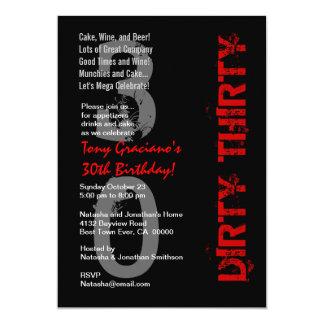 Modèle rouge blanc noir sale de trente carton d'invitation  12,7 cm x 17,78 cm