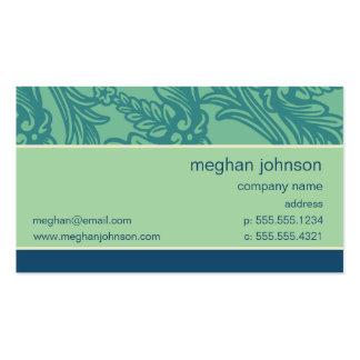 Modèle turquoise bleu de carte de visite d'Aqua de