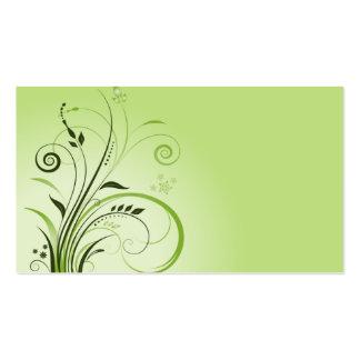 modèle vintage de carte de visite de vert de natur