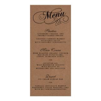 Modèles élégants de menu de mariage de Papier Cartes Doubles