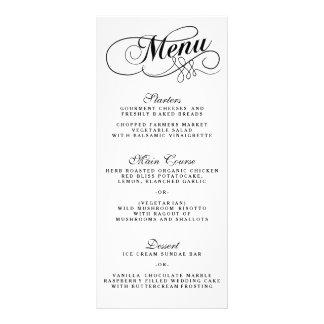 Modèles noirs et blancs élégants de menu de doubles cartes