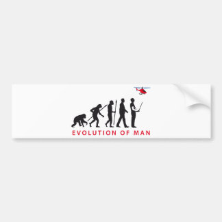 modelling more helicopter remote control evolution bumper sticker