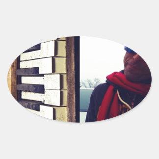 Moden Piano Excursions CD Cover Artwork Oval Sticker