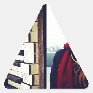 Moden Piano Excursions CD Cover Artwork Triangle Sticker