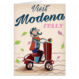 Modena Italy Scooter travel poster Card