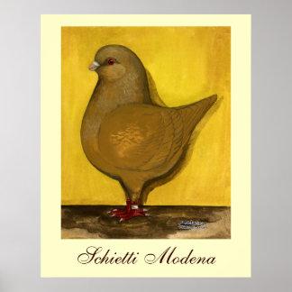 Modena Yellow Schietti Print