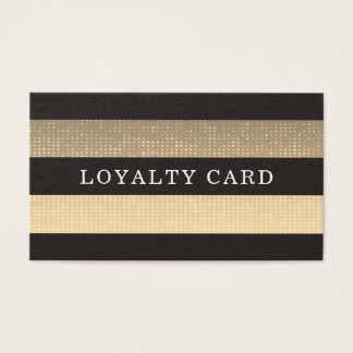 Moder Elegant Black White Pattern Stripes Loyalty Business Card