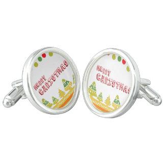 Moder n Merry Christmas Design Cufflinks