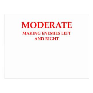 MODERATE POSTCARD