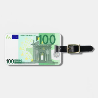 Modern 100 Euro Currency Money Note Luggage Tag
