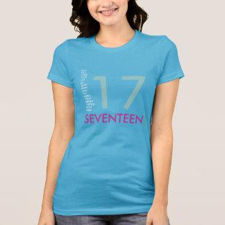Modern 17th Birthday V-Neck T-Shirt