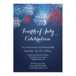 Modern 4th of July Fireworks Barbecue  Invitation