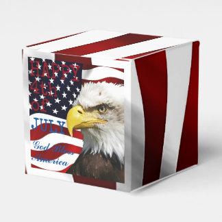 Modern 4th of July US USA Flag American Eagle Favor Box