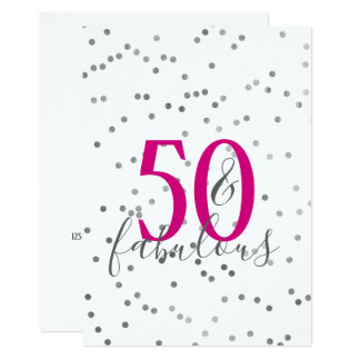 Modern 50 and Fabulous Birthday Party Invitations