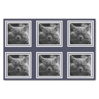 Modern 6 Instagram Style Photo Collage Custom Text Tissue Paper