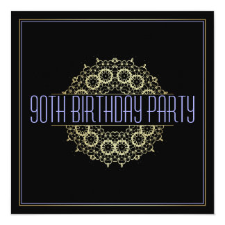 Modern 90th Birthday Party | Bold Gold Swagger Card