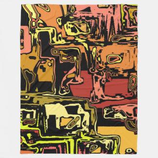 modern abstract 47C Fleece Blanket