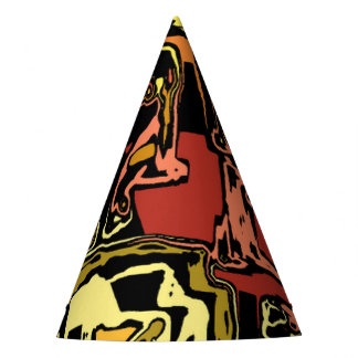 modern abstract 47C Party Hat