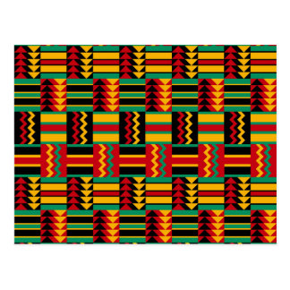 Modern Abstract African Art Pride Red Yellow Green Postcard