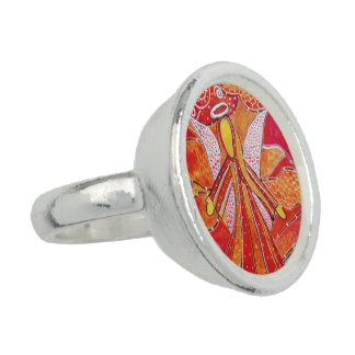 Modern Abstract  Angel Photo Rings