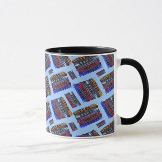 Modern Abstract Art Blue Background Mug
