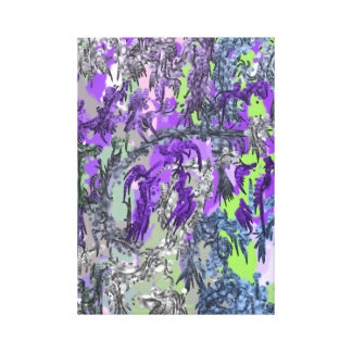 ~ Modern Abstract Art Design ~ Flowers in Bloom ~ Canvas Print
