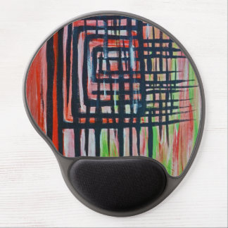 Modern abstract art gel mouse pad