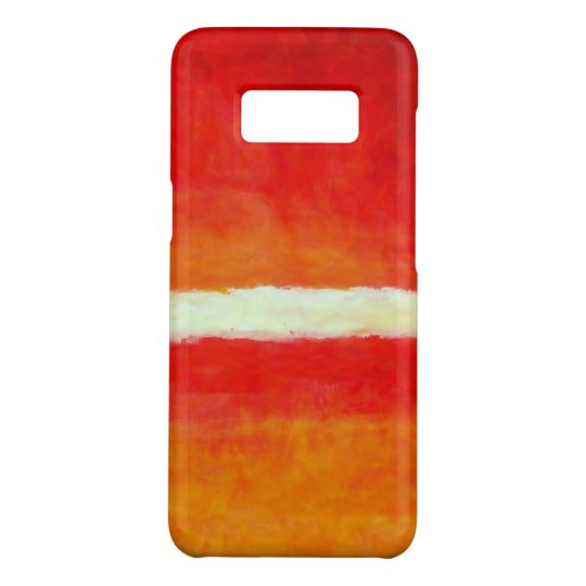 Modern Abstract Art - Red Yellow White Case-Mate Samsung Galaxy S8 Case