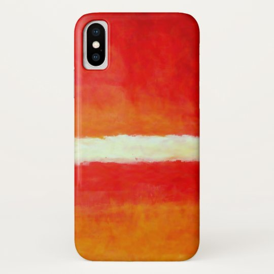 Modern Abstract Art - Red Yellow White iPhone X Case