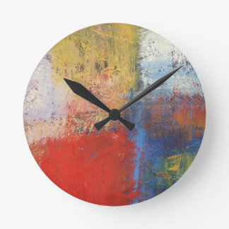 Modern Abstract Art Round Clock