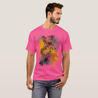 Modern Abstract Autumn Leave Inspired Graphic T-Shirt