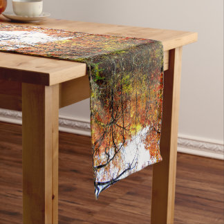 Modern Abstract Autumn Leaves/Trees Table Runner